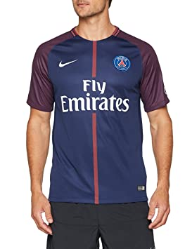 d437bc3df1338 Nike PSG M Nk BRT Stad JSY SS Hm Camiseta 1ª Equipación Paris Saint Germain  17-18