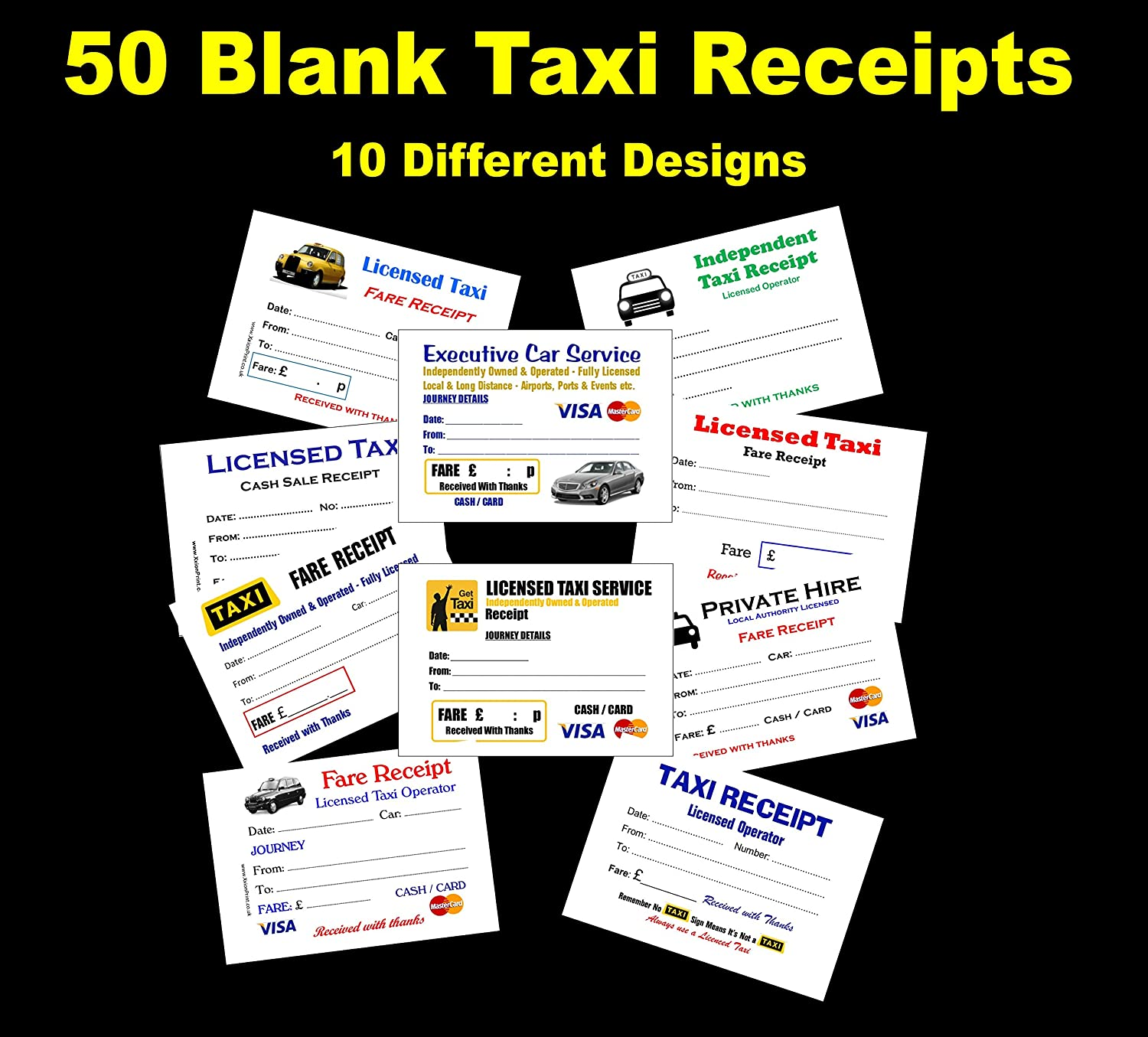 Quickbooks Online Customize Invoice Word Licensed Taxi Driver Receipt Bookpads  For London Black Cab  What Is A Proforma Invoice In The Uk Pdf with What Is Vat Invoice Pdf  Blank Taxi Receipts  Different Designs  Of Each Free Fast Uk  Delivery How Do You Spell Receipt Pdf