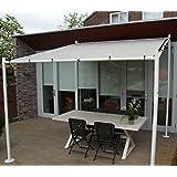 gazebo pavilion white 350 x 350 cm uv 50 sorara outdoor backyard shelter canopy garden. Black Bedroom Furniture Sets. Home Design Ideas