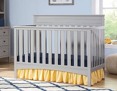 Delta Children Fabio 4-in-1 Convertible Crib, Grey