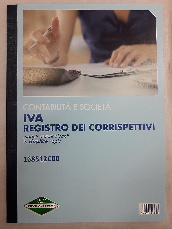 Registro corrispettivi Trade Flex carta chimica 2 parti 12x2 fogli 168512C00