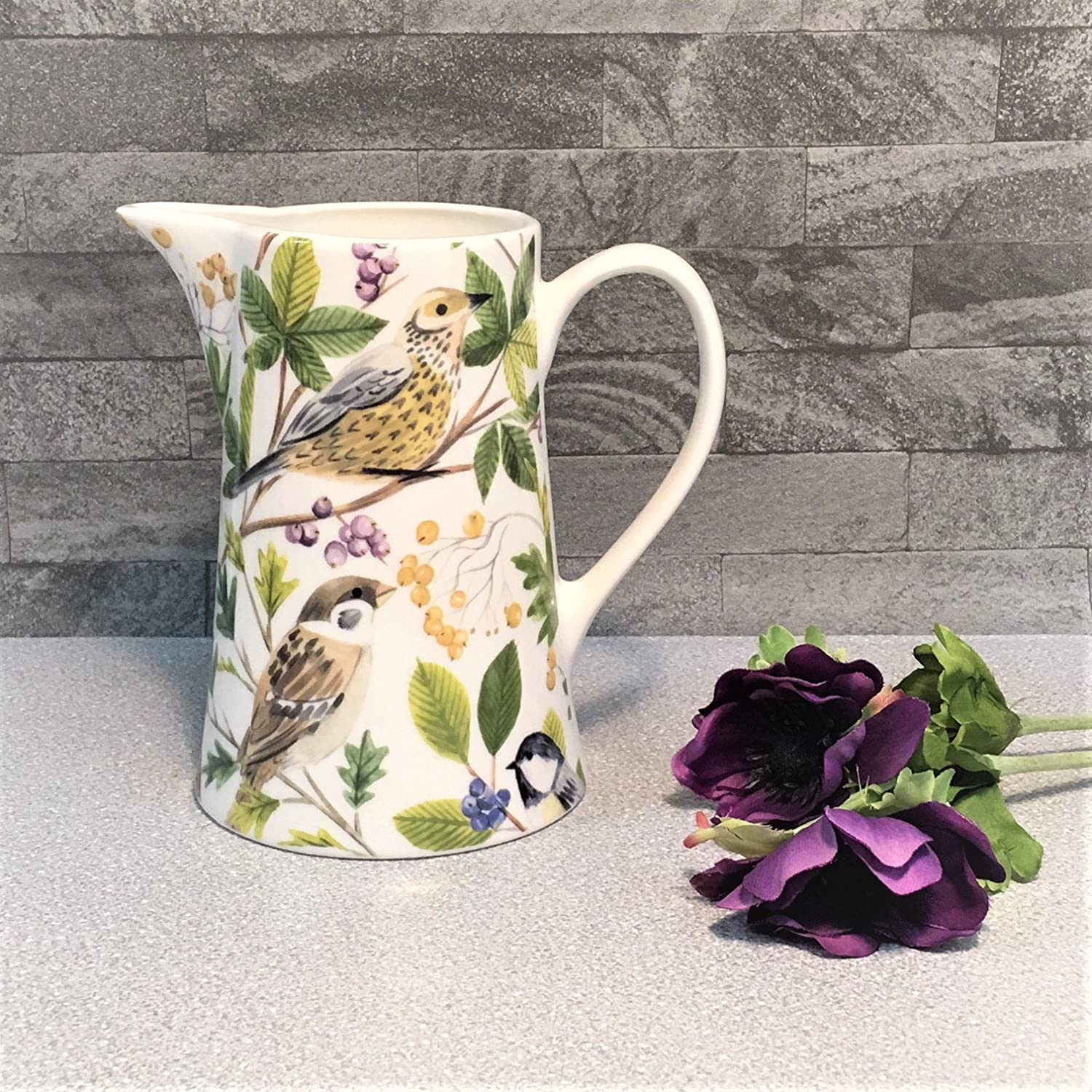 Gisela Graham British Garden Birds in ceramica brocca vaso 15/ cm Birthday Gift Her