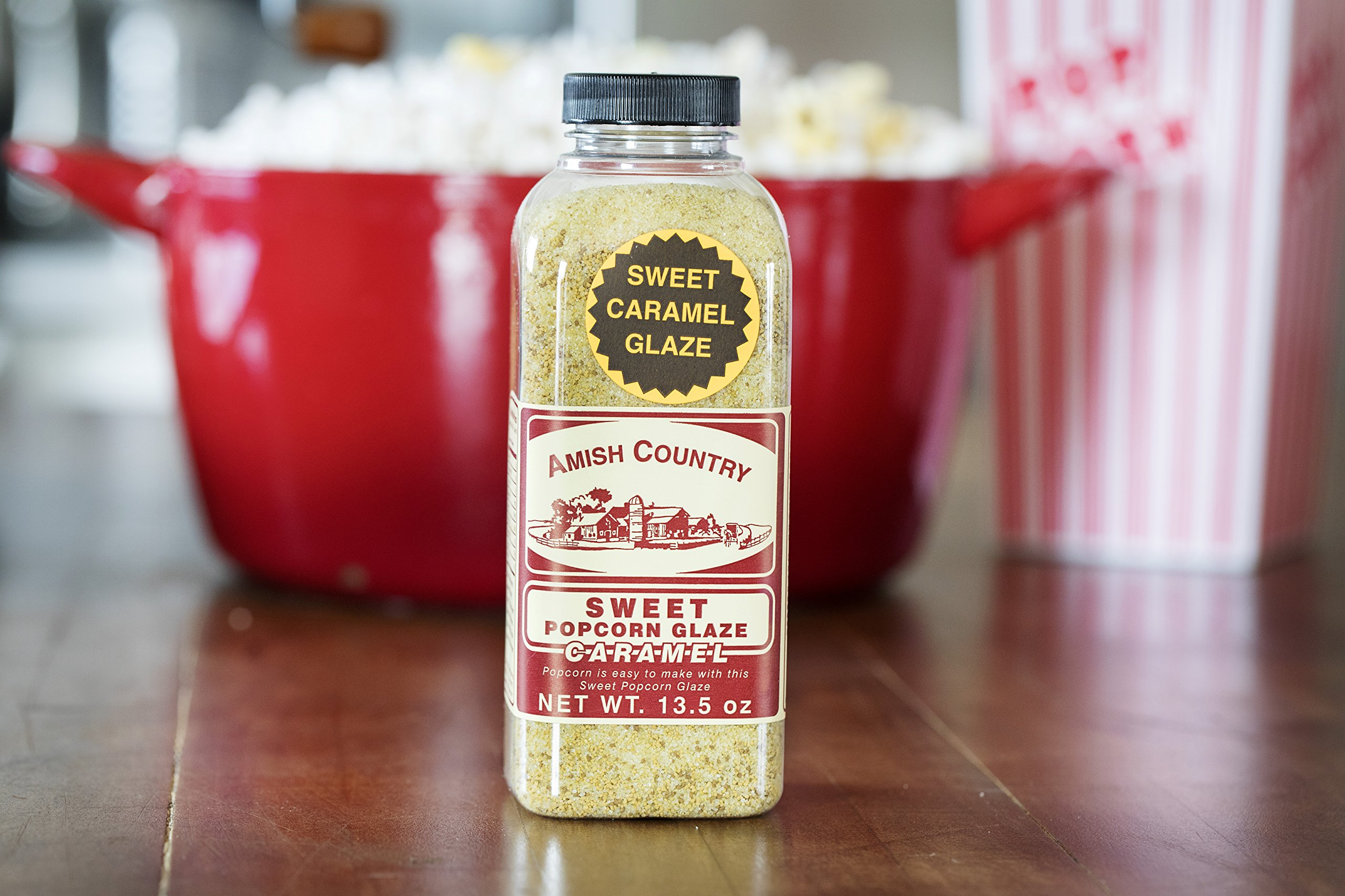 Amish Country Popcorn - Sweet Caramel Glaze - 13.5 oz - Great Tasting and Old Fashioned Sweet Treat - with Recipe Guide and 1 Year Freshness Guarantee by Amish Country Popcorn (Image #4)