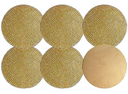 Yogiyogi miglior set di golden color forma rotonda decorativo in