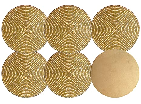 Yogiyogi miglior set di golden color forma rotonda decorativo in
