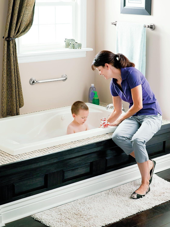 Moen R8948P 48-Inch Bathroom Grab Bar, Peened - Towel Bars ...