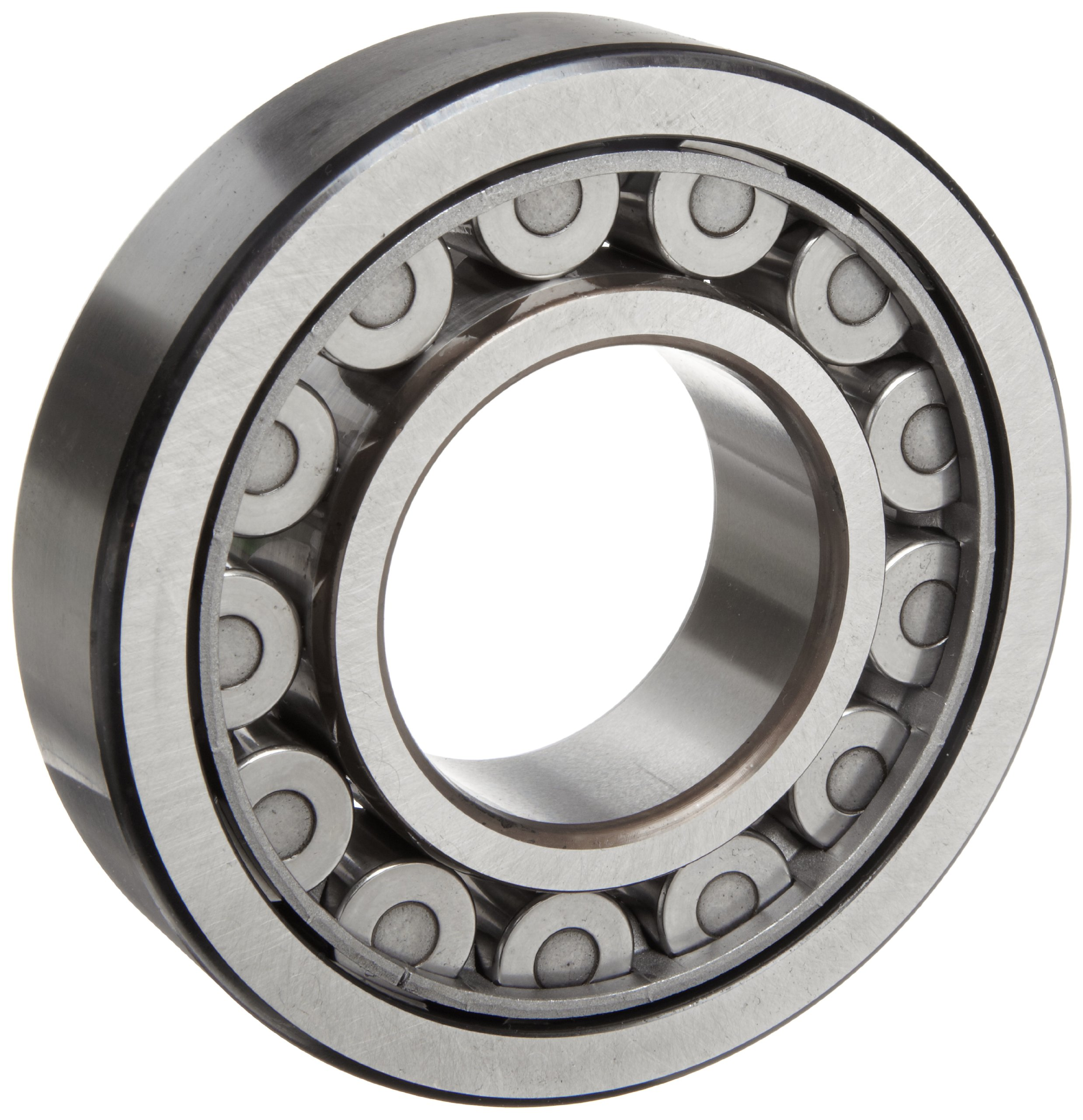 SKF NU 317 ECJ Cylindrical Roller Bearing, Removable Inner Ring, Straight, High Capacity, Steel Cage, Metric, 85mm Bore, 180mm OD, 41mm Width, 3600rpm Maximum Rotational Speed, 75300lbf Static Load Capacity, 66800lbf Dynamic Load Capacity