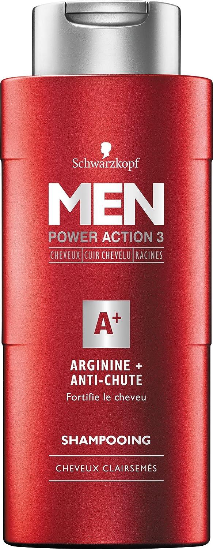 Schwarzkopf MEN - Champú Anti-chute - Arginina Men 250 ml - juego de 3: Amazon.es: Salud y cuidado personal