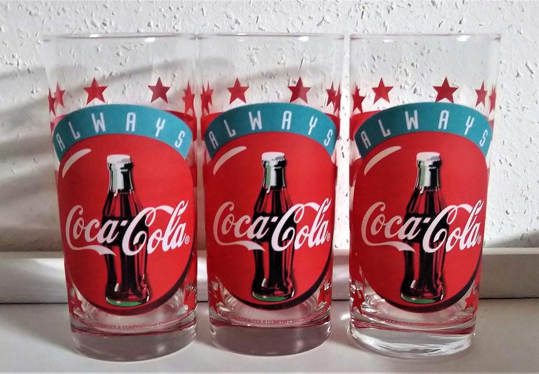 Coca-Cola - Vasos de cristal, diseño retro: Amazon.es: Hogar