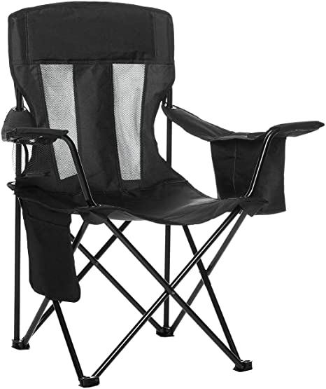 Bon AmazonBasics Mesh Folding Outdoor Camping Chair With Bag   34 X 20 X 36  Inches,