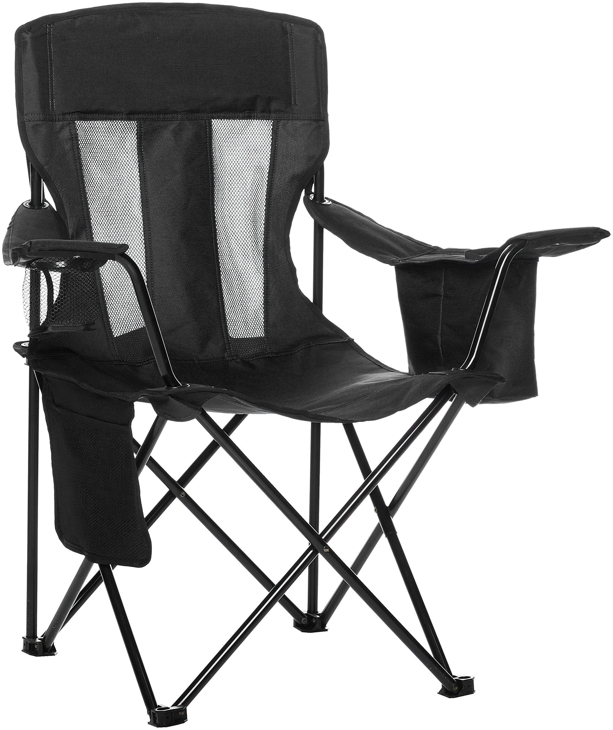 ویکالا · خرید  اصل اورجینال · خرید از آمازون · AmazonBasics Mesh Folding Outdoor Camping Chair With Bag - 34 x 20 x 36 Inches, Black wekala · ویکالا