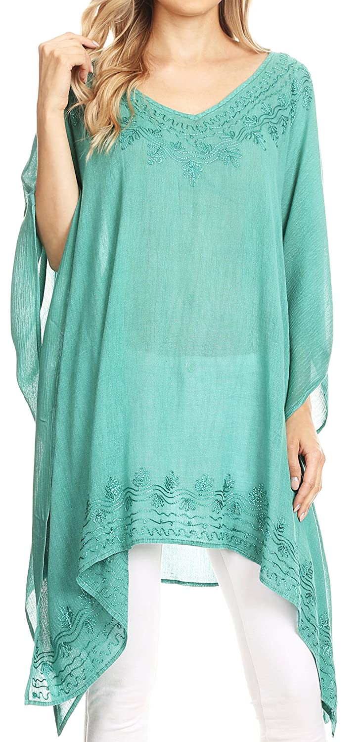 9210da59968210 Versatile and Simple: This classic Poncho Top Blouse Caftan Cover up top  features a ...