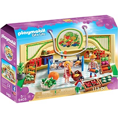 PLAYMOBIL Grocery Shop: Toys & Games