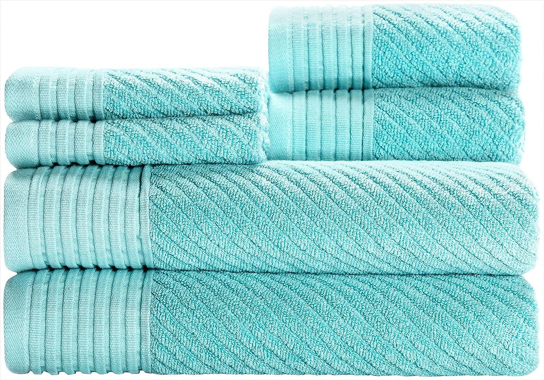 Caro Home Beacon 6-pc. Towel Set One Size Turquoise Blue