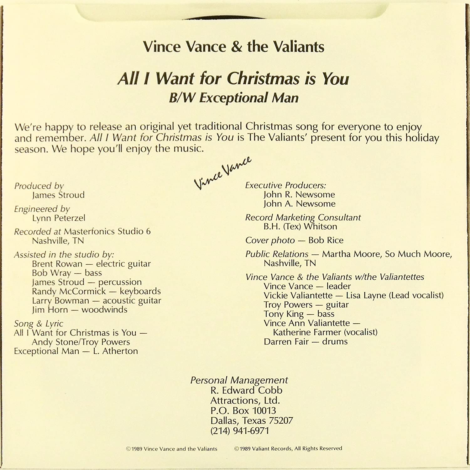 Vince Vance & the Valiants, Vince Vance and the Valiants - All I ...