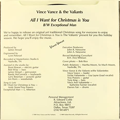 vince vance the valiants vince vance and the valiants all i want for christmas is you exceptional man amazoncom music - All I Want For Christmas Song