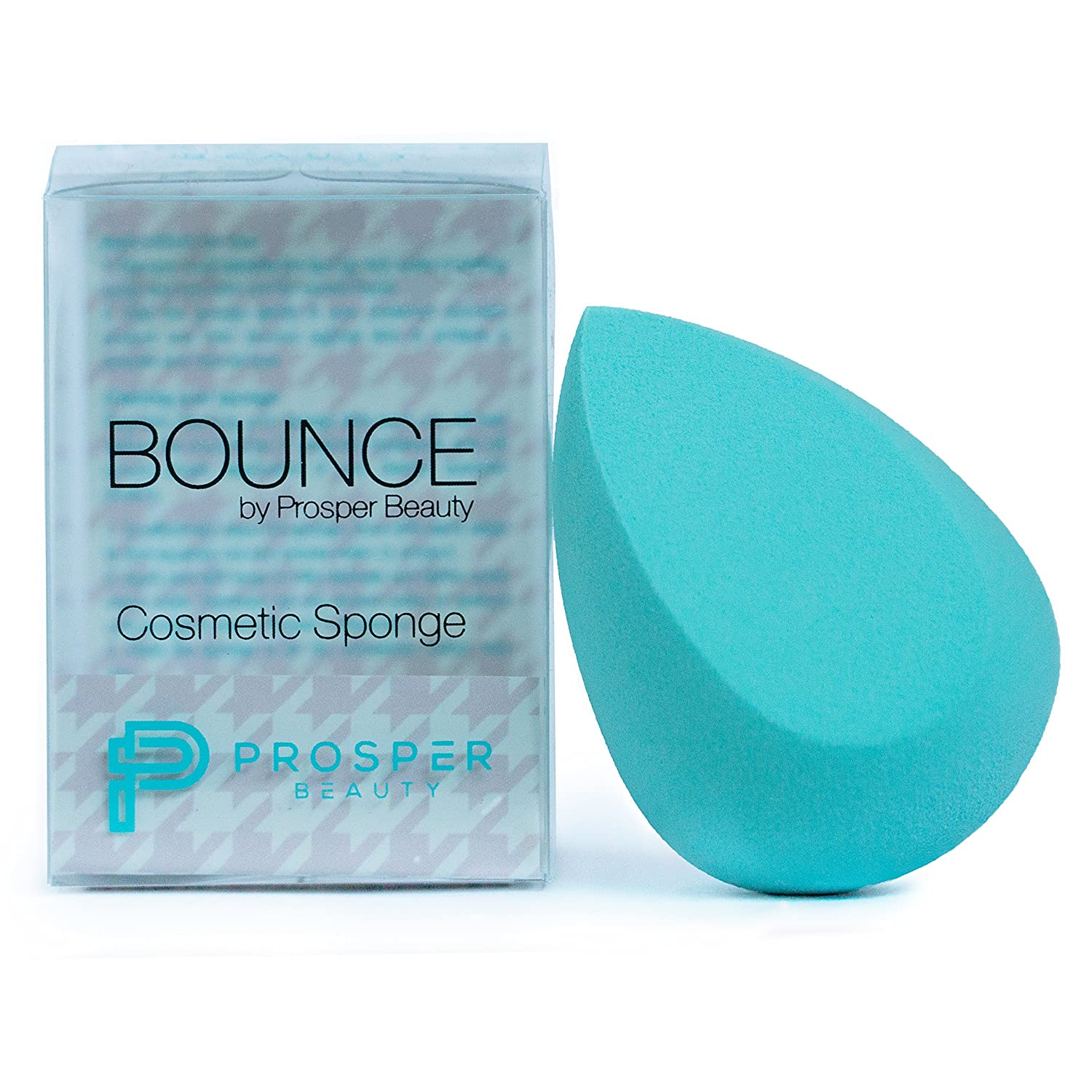 Beauty Sponge Makeup Blender Cosmetic [BOUNCE by Prosper Beauty] Premium Applicator Real Sponges and Blenders Tool Techniques for Foundation Concealer Powder Conturing Complexion