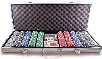 profesional Juego de Poker,Set fichas de Poker de Casino con maletin: Amazon.es: Juguetes y juegos