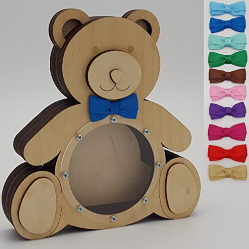 Wooden Money Box Christening Gifts For Boys Teddy Bear Boy Gifts Toddler Gifts Personalized Newborn Present