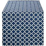 "DII 格子花纹棉餐巾,适合防缩、婚礼、淋浴、派对和日常使用 航海蓝 Table Runner - 14 x 72"" CAMZ10473"