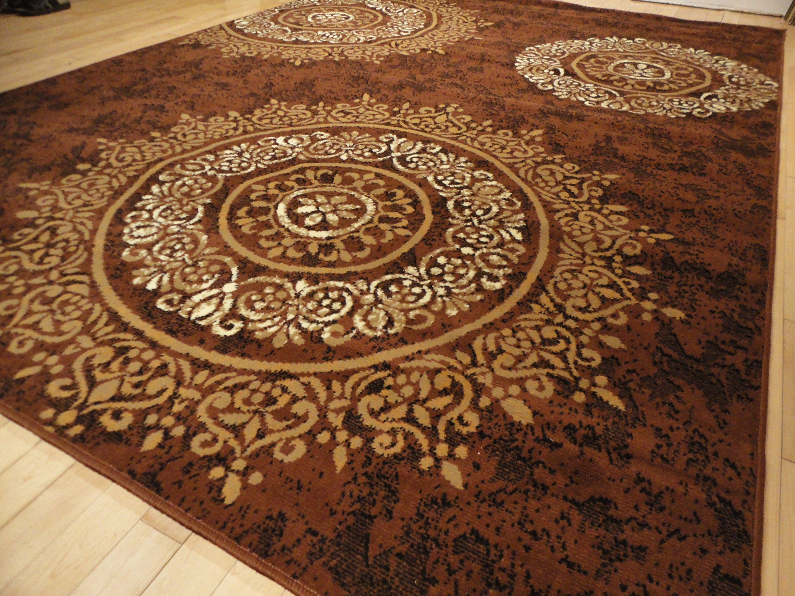 New Contemporary Brown Beige Black Cream Modern Circles Area Rugs 2x11 Long Runner Rug For Hallway Stair Rugs Long Brown Runners 2 X11 Hallway Runner Buy Online In Montenegro At Desertcart Productid