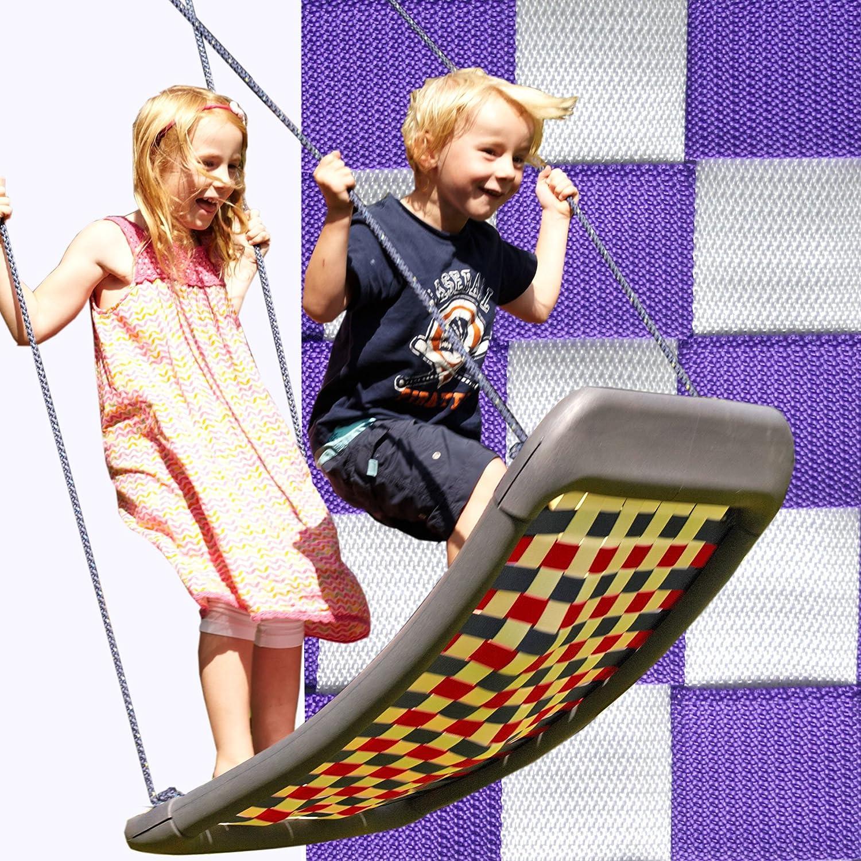 Kleine Mehrkindschaukel STANDARD weiß/violett für 2 Kinder, 109 x 53 cm (SPR.M.103) - das Original direkt vom Hersteller die-schaukel.de