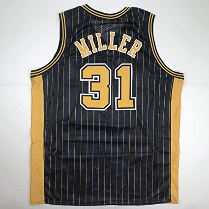 27845384701 Unsigned Reggie Miller Indiana Blue Custom Stitched Basketball Jersey Size  Men's XL New No Brands/