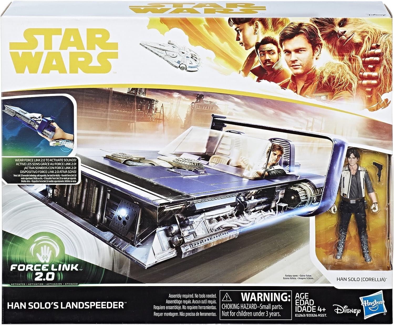 Star Wars Force Link 2.0 Han Solo Landspeeder and Figure