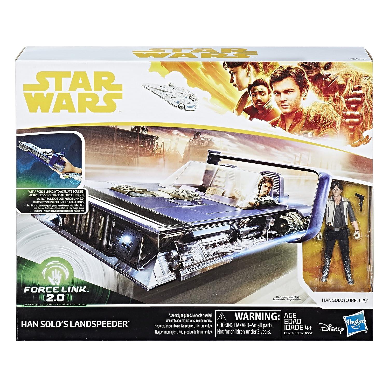 Star Wars Force Link 2.0 Han Solo Landspeeder and Figure Hasbro E1263