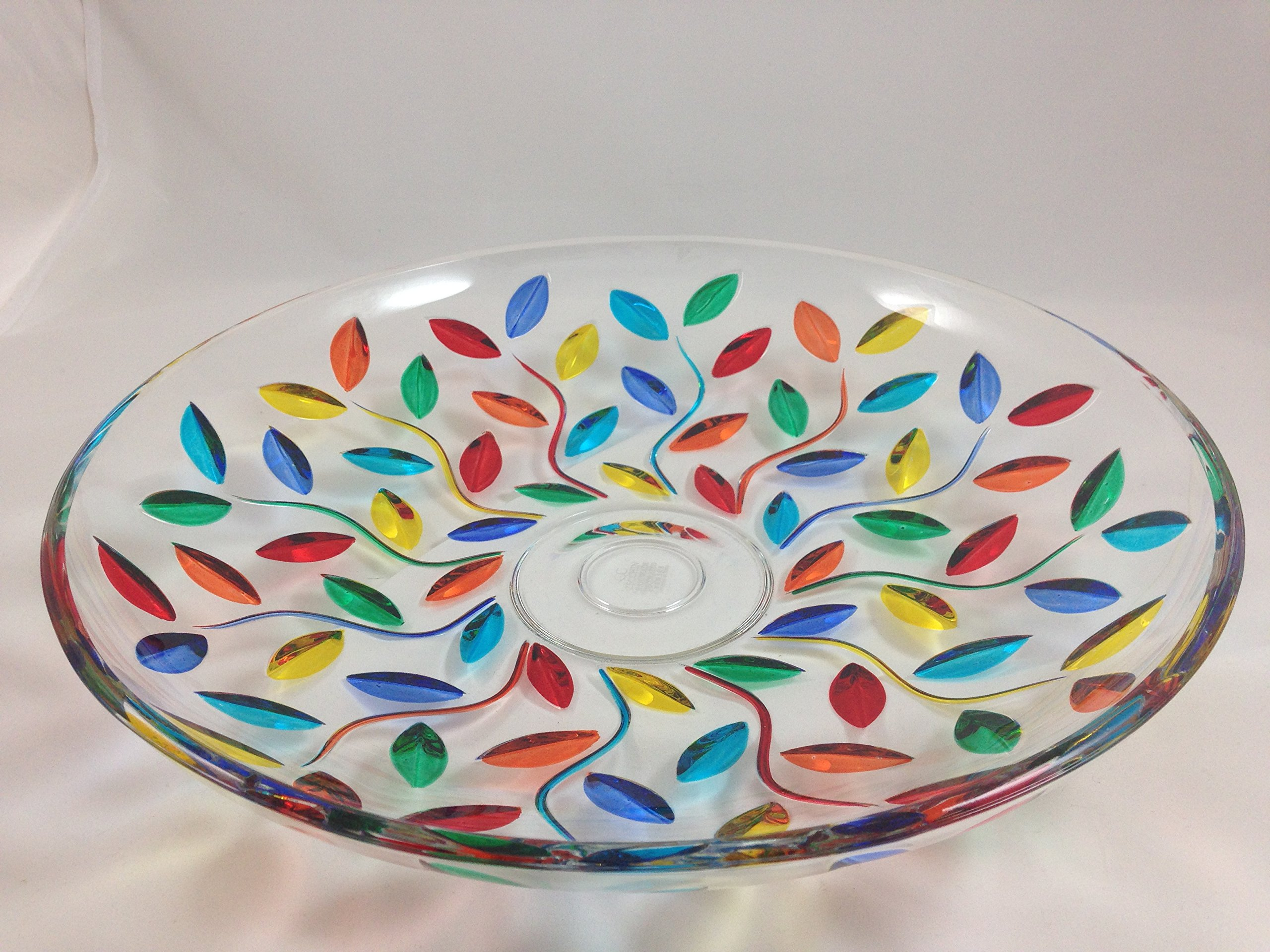 Murano Glass Flowervine Centerpiece, Flat