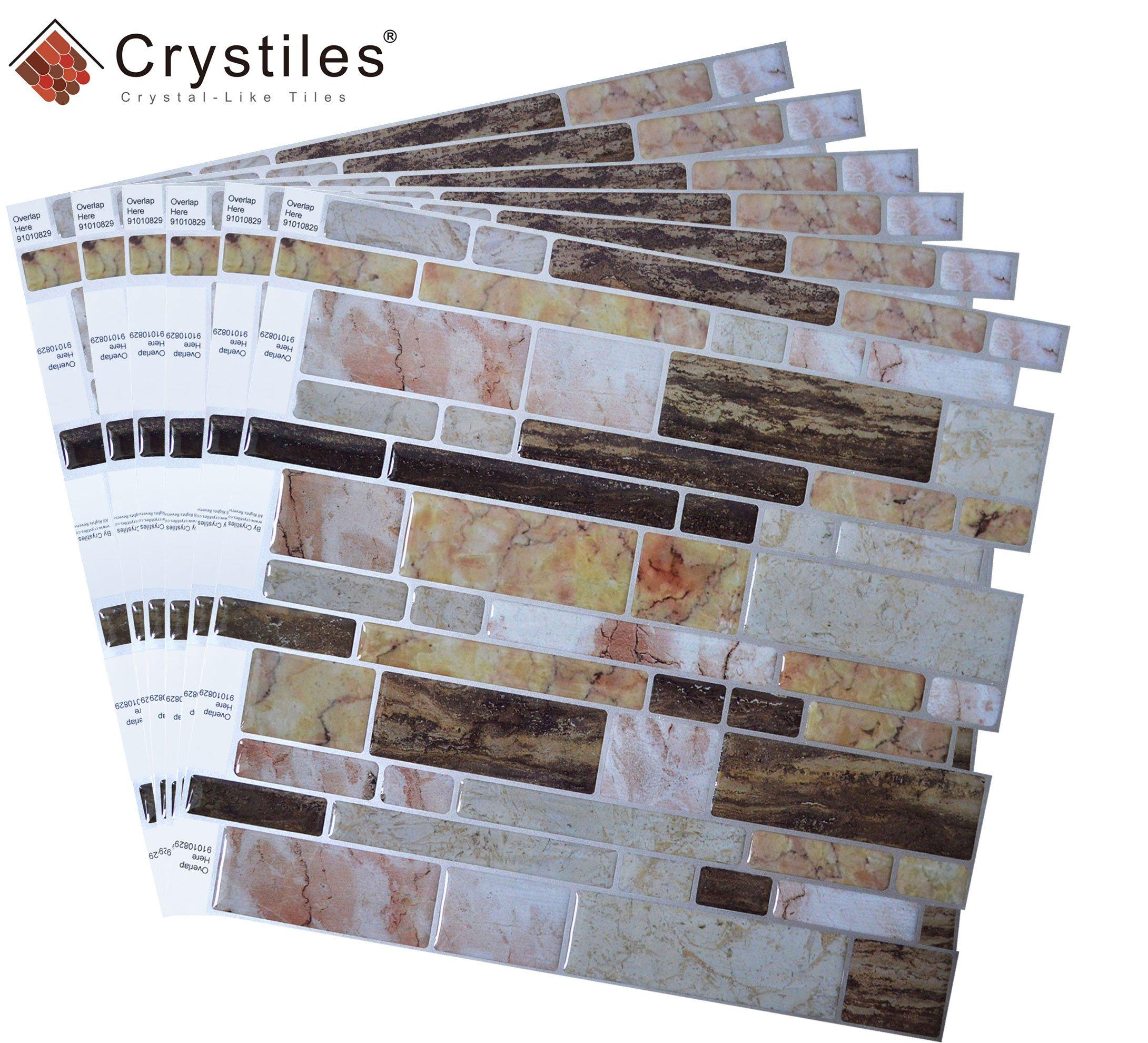 crystiles peel and stick diy backsplash tile stick on vinyl wall tile perfect 696392499319 ebay. Black Bedroom Furniture Sets. Home Design Ideas