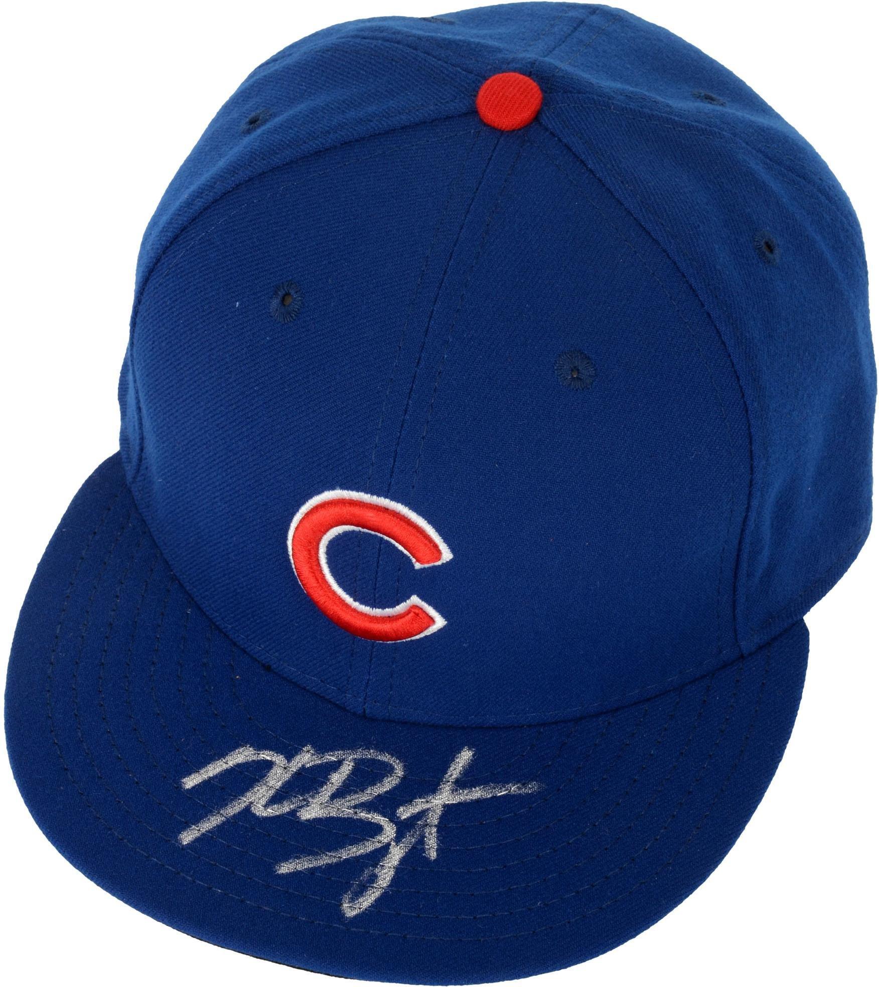 Kris Bryant Chicago Cubs Autographed Navy Cap Fanatics Authentic Certified Autographed Hats
