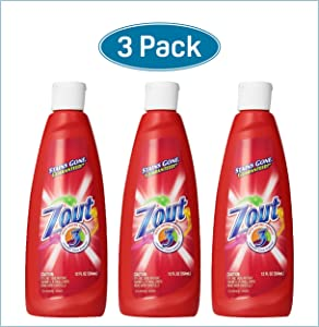 Zout Triple Enzyme Formula Laundry Stain Remover, 12 Oz (Pack of 3)