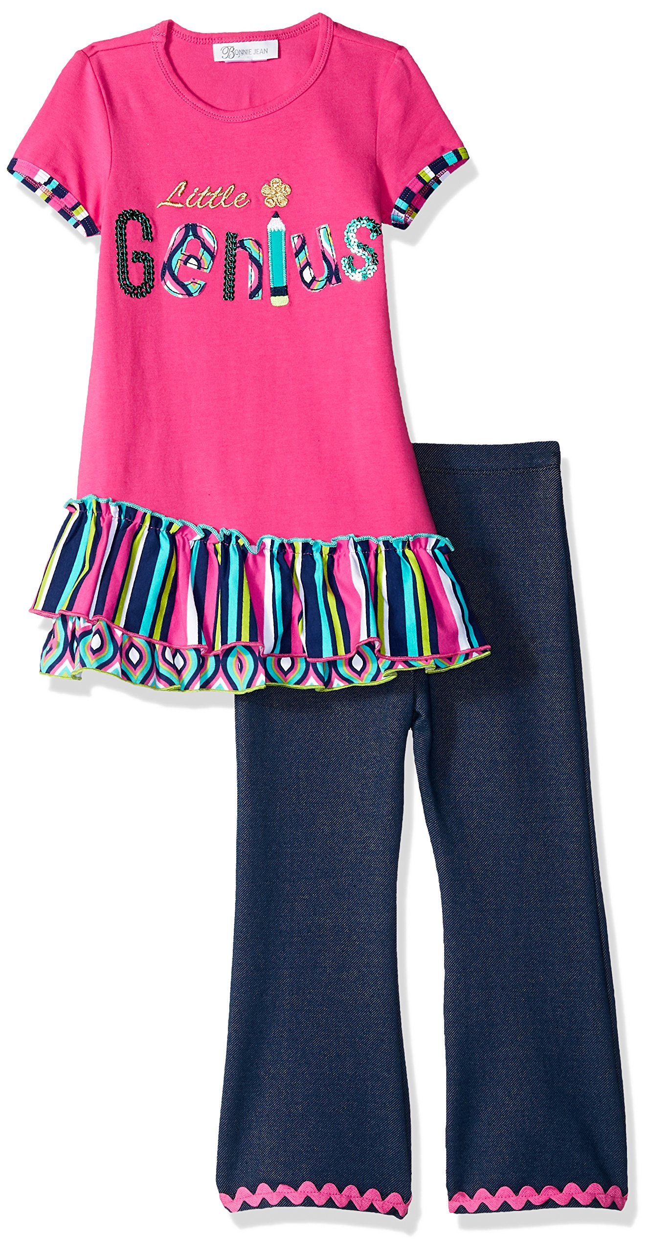 Bonnie Jean Toddler Girls' Holiday Dress and Legging Set, Little Genius, 4T