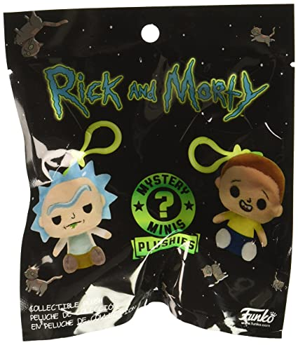 Funko Blind Bag Keychain Plush: Rick and Morty (one Mystery Plush Keychain)