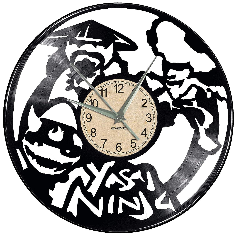 EVEVO Yasai Ninja Video Game Reloj De Pared Vintage Diseño ...
