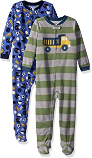 7f0aa5b28 carter s Baby Boys  2-Pack Cotton Footed Pajamas  Amazon.in ...