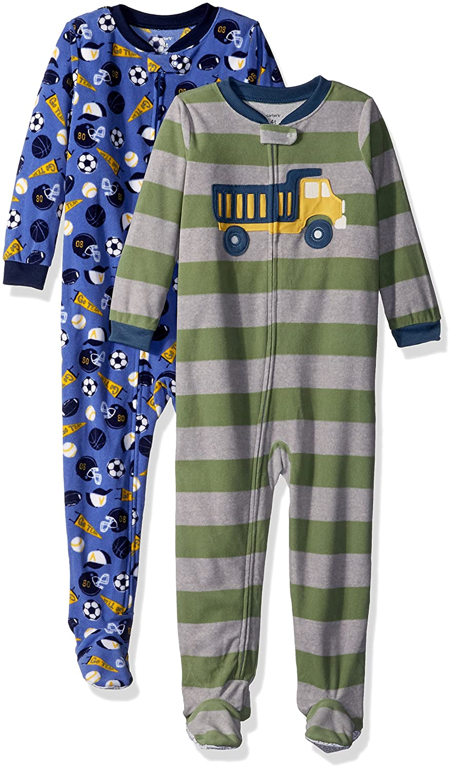 Carter's Baby and Toddler Boys' 2 Pack Fleece Footed Pajamas