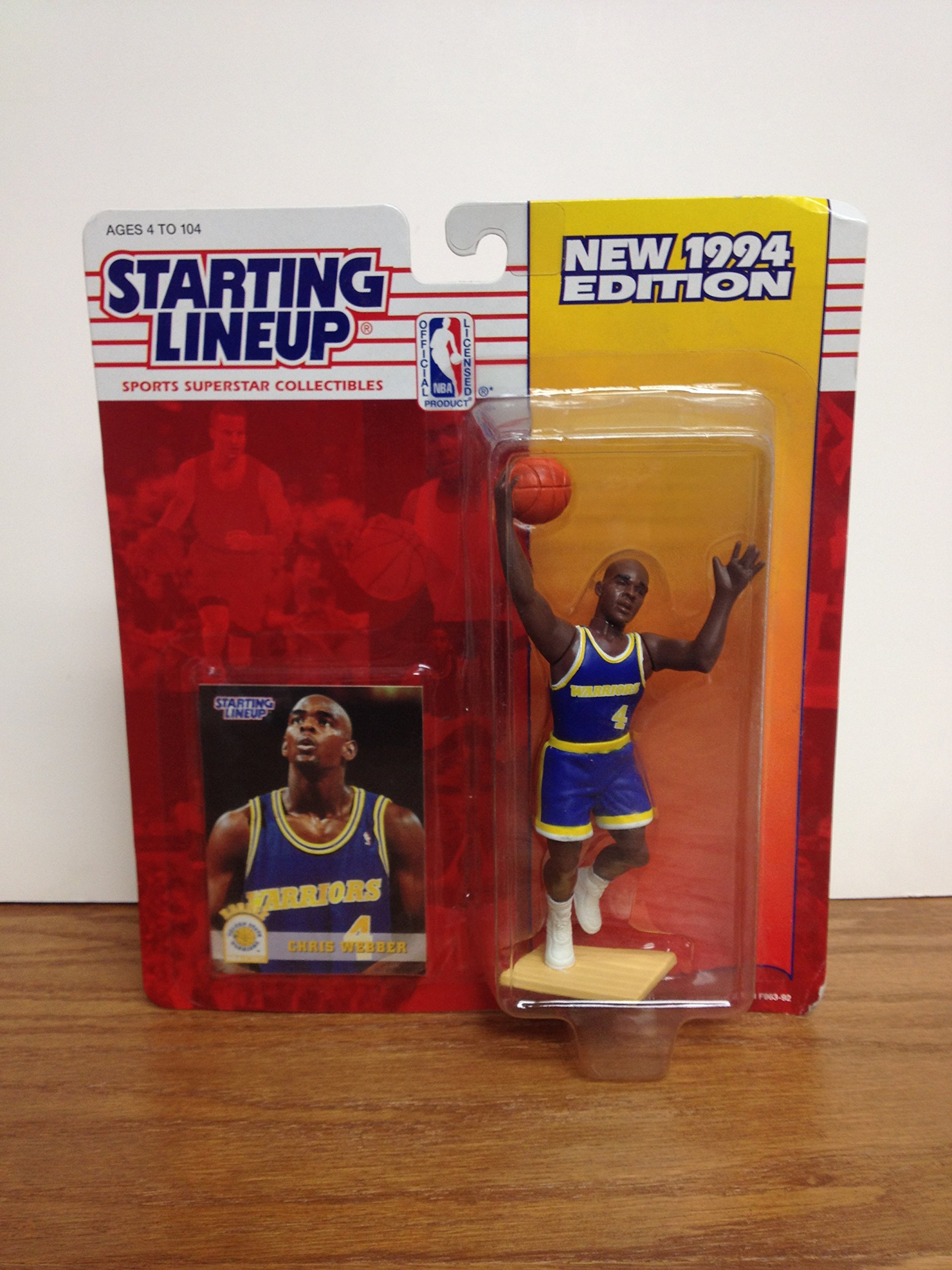 Chris Webber Golden State Warriors ROOKIE Toy Action Figure with Trading Card