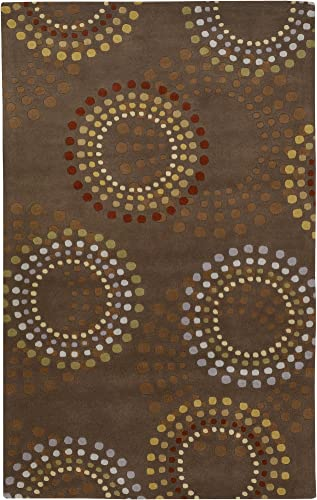 Aurora Home Mahal Traditional Medallion Area Rug 5 3 x 7 3 Red