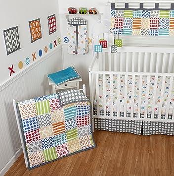 Amazon Com Sumersault 10 Piece Crib Bedding Set Doodles Bright
