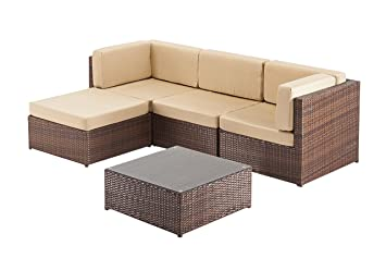 Rattan Garden Furniture Corner Sofa Suite, Ideal For Conservatory Or Patio,  Indoors Or Outdoors