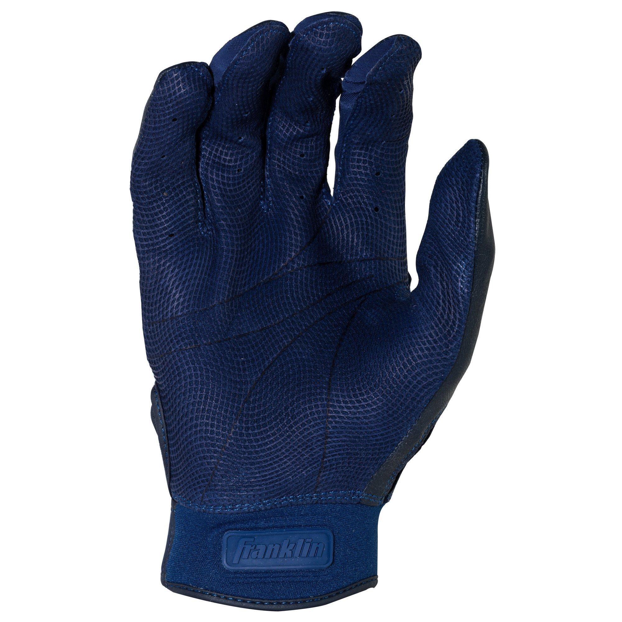 Franklin Sports CFX Pro Full Color Chrome Series Batting Gloves CFX Pro Full Color Chrome Batting Gloves, Navy, Adult Small by Franklin Sports (Image #3)