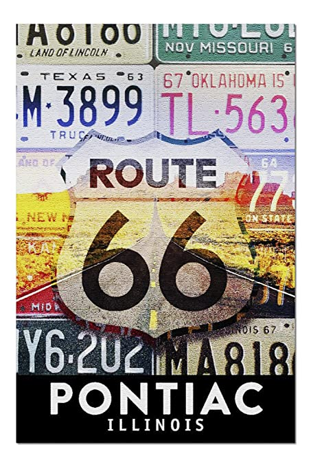 Amazon com: Pontiac, Illinois - Route 66 License Plates