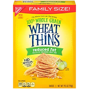 Wheat Thins Crackers (Reduced Fat, 14 5-Ounce Box)
