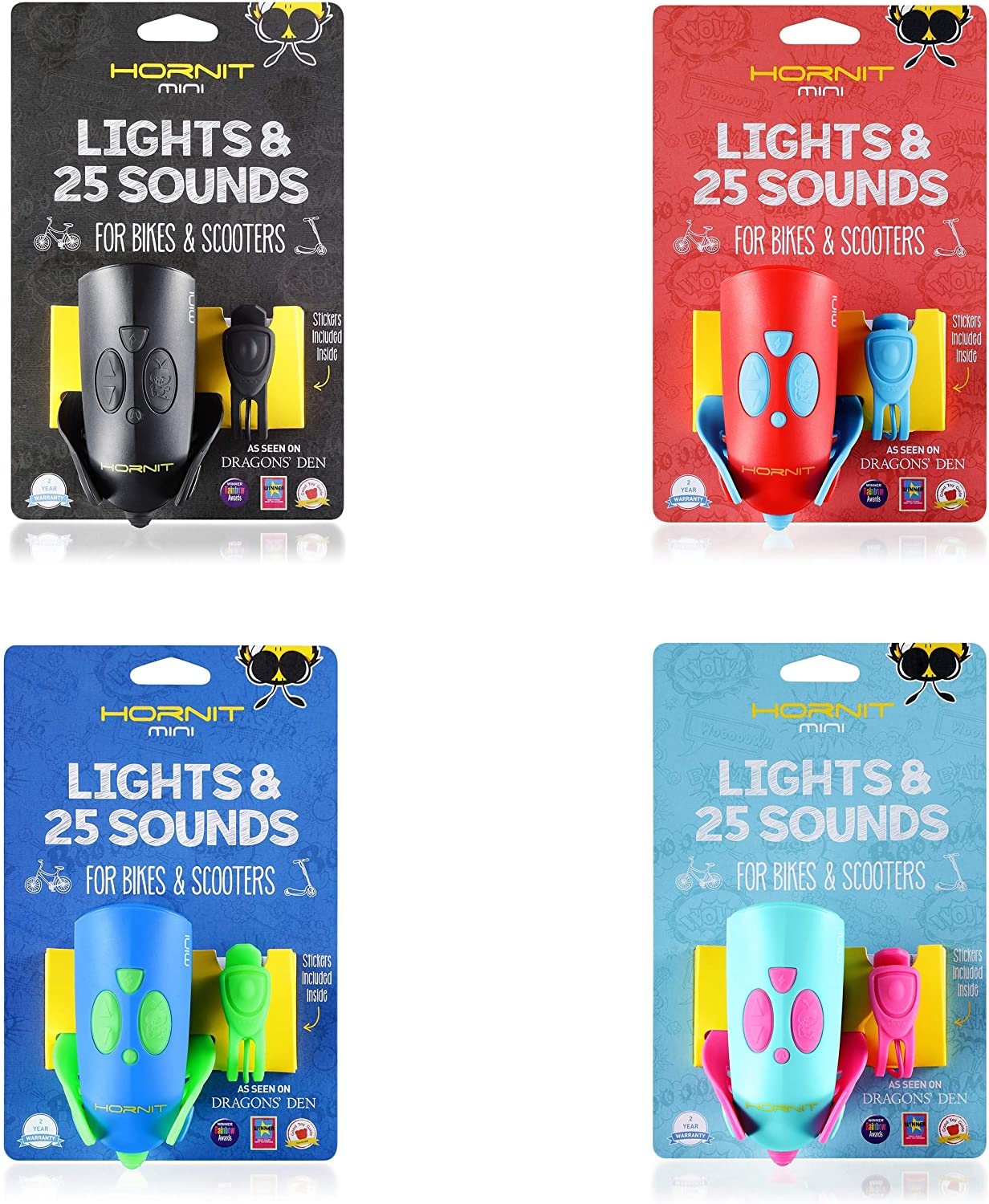 5 Lights 25 Sound effects Bike /& Scooter Horn and Light for Children and Kids Hornit MINI