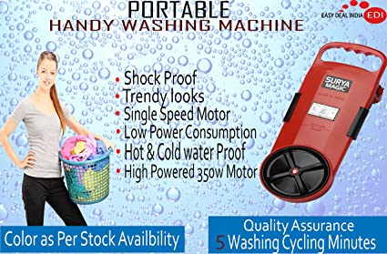 Easy Deal India Portable Handy Plastic Washing Machine Bucket (Multicolour)