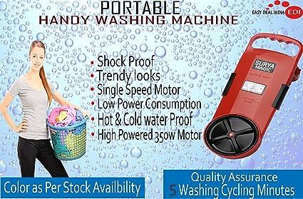 Easy Deal India Portable Handy Plastic Washing Machine Bucket (Multicolour)