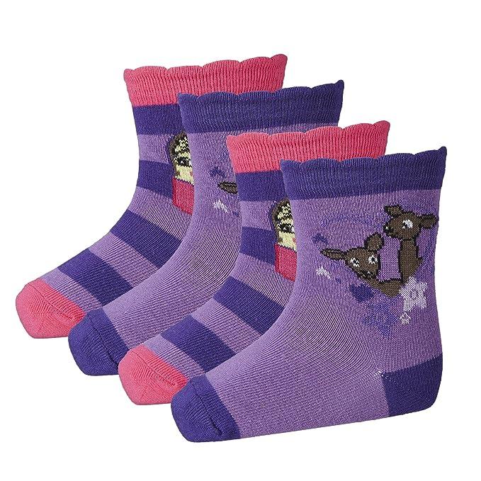 LEGO Wear Duplo Amber 602-Socken 4-er, Calcetines para Niñas, Violett