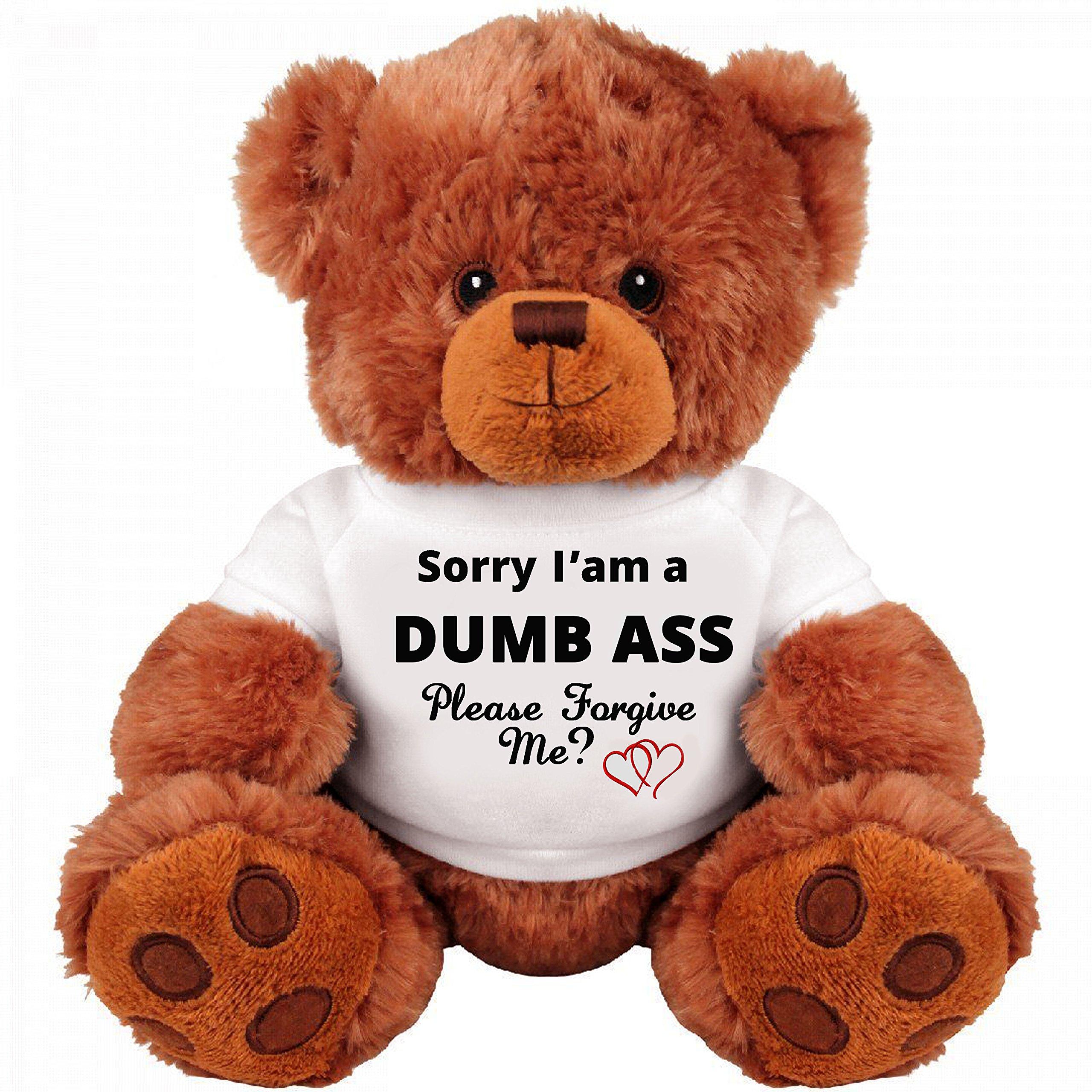 caff913c663 Amazon.com  Sorry and Forgive Me Gift  Funny Teddy Bear Couple Gift  Medium Teddy  Bear Stuffed Animal  Toys   Games